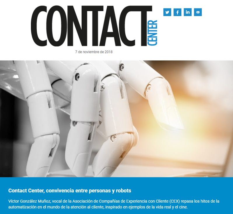 Contact Center: Convivencia entre robots y personas