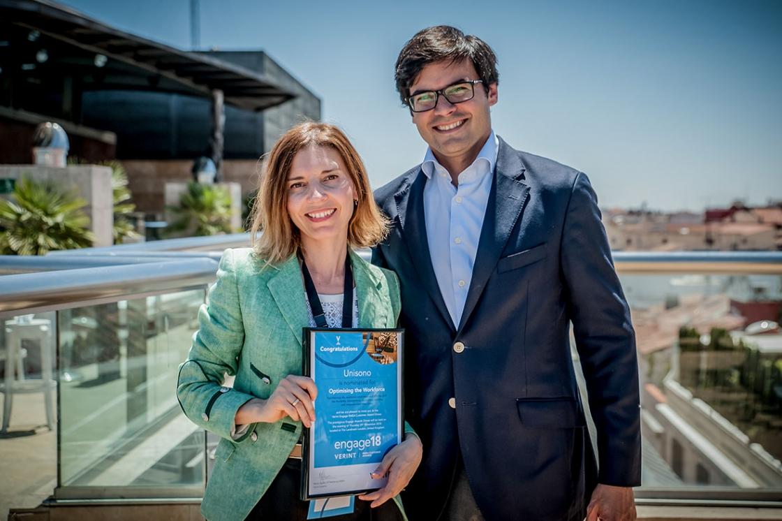 Grupo Unísono recibe Premio Verint por la exitosa optimización del sistema de herramientas de Workforce Management.