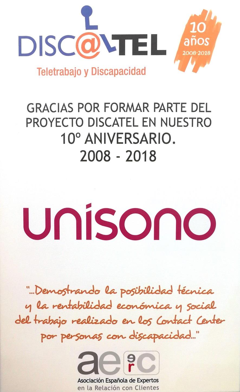 """Unísono comprometido durante una década con el proyecto """"Discatel"""""""